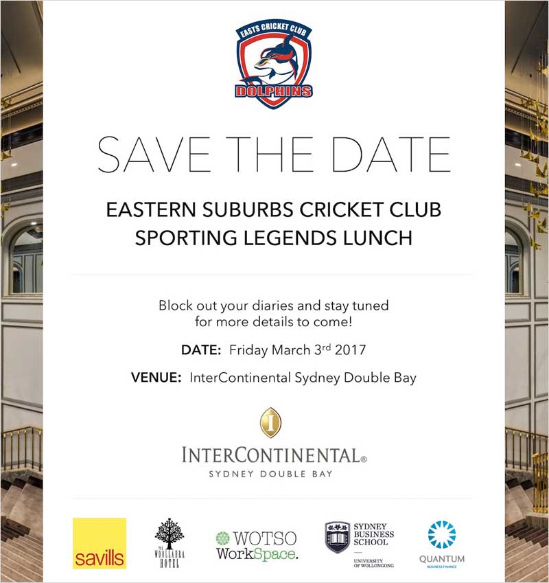 Sporting Legends Lunch details